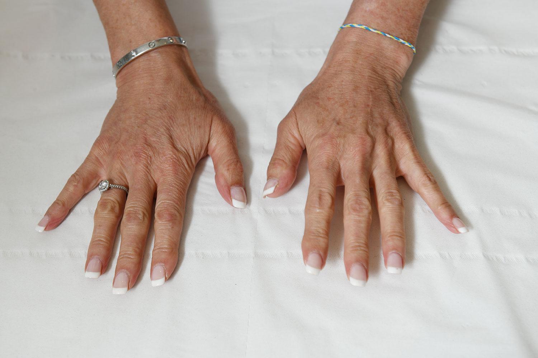 Anthea Turner's hands