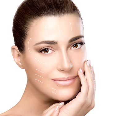 Beauty Face Spa Woman. Surgery and Anti Aging Concept